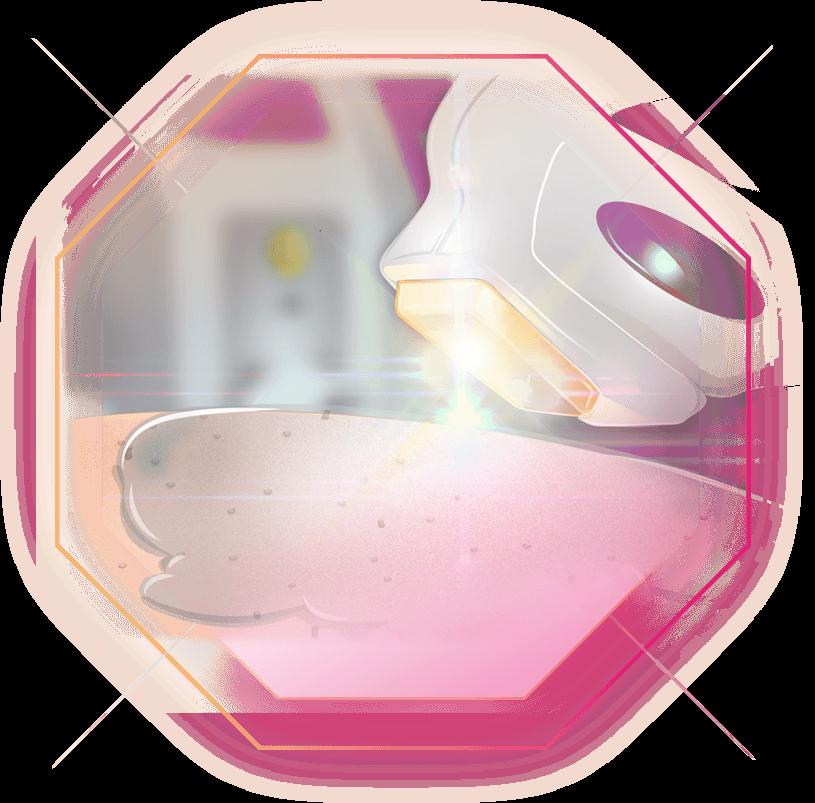 Illustration XENOgel Behandlung Lichtreflexe