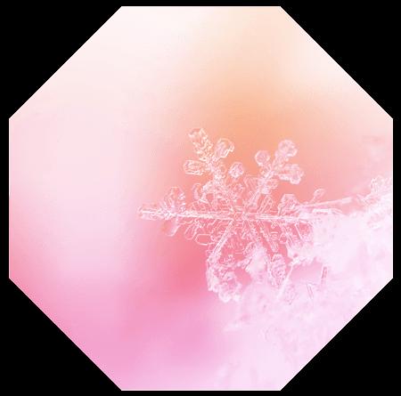 Oktagon mit Eiskristall