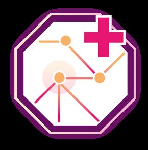 Icon medizinisches Netzwerk