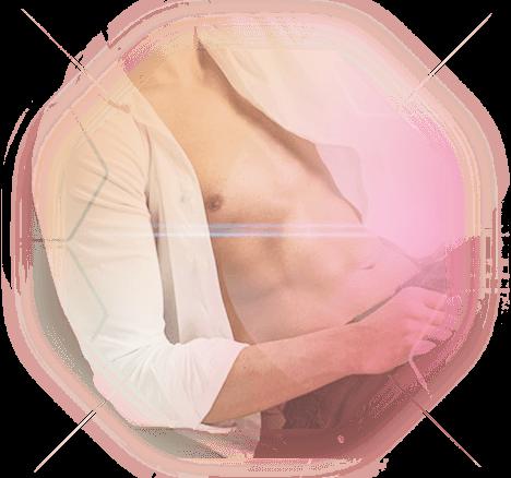 Behandlung Männder Brust und Bauch