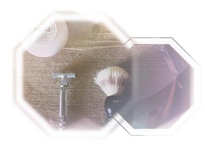 Fotokollage mit Rasur-Equipment