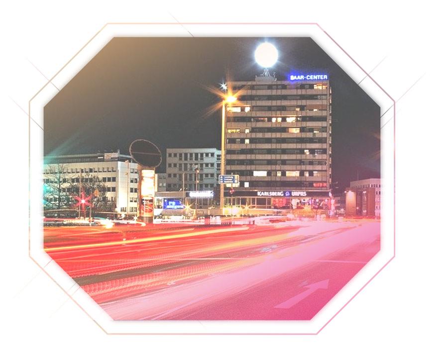Aufnahme Straße in Saarbrücken